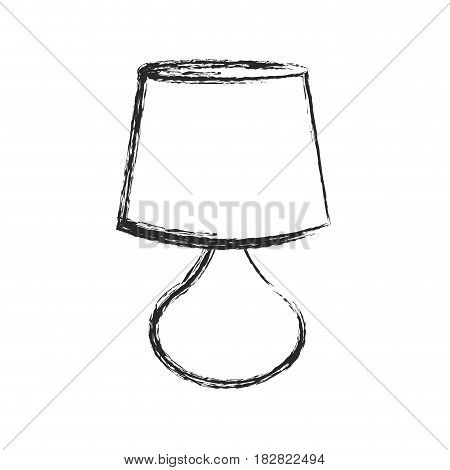 lamp furniture decorative object sketch vector illustration eps 10