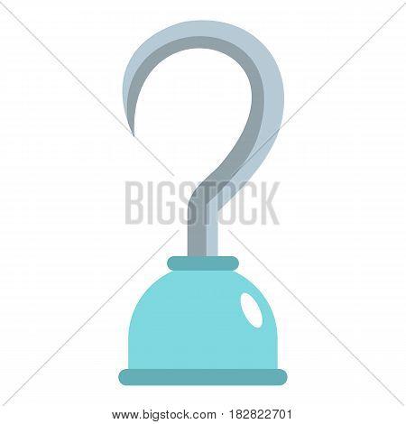 Hook icon flat isolated on white background vector illustration
