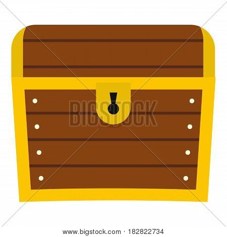 Chest icon flat isolated on white background vector illustration