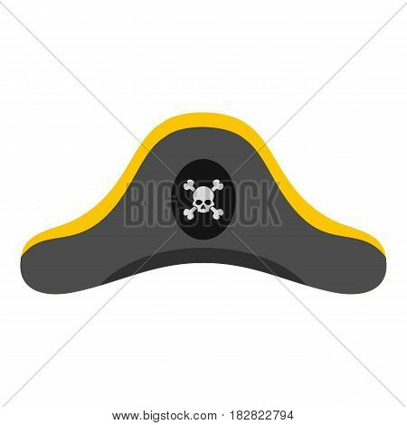Pirate hat icon flat isolated on white background vector illustration