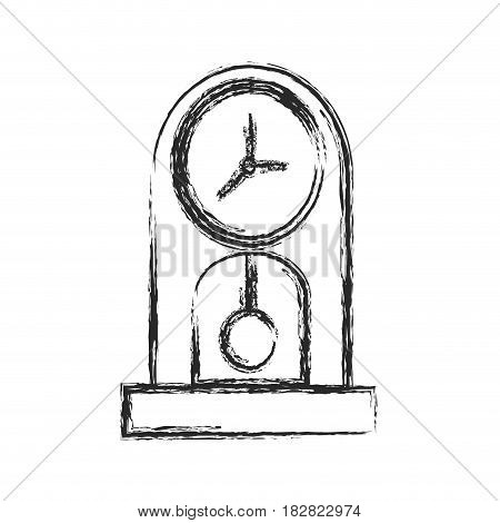 clock time watch pendulum sketch vector illustration eps 10