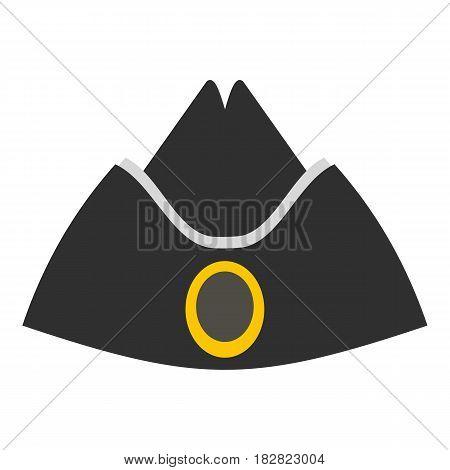 Forage cap icon flat isolated on white background vector illustration
