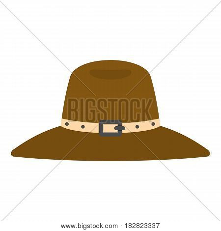 Hat icon flat isolated on white background vector illustration