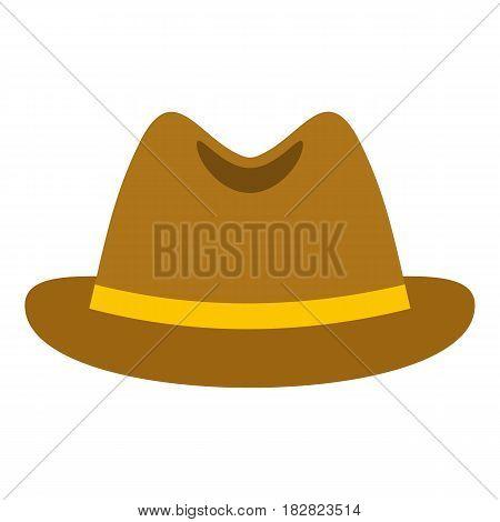 Man hat icon flat isolated on white background vector illustration
