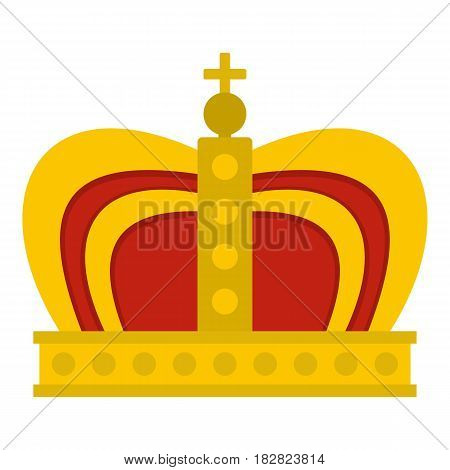 Monarchy crown icon flat isolated on white background vector illustration