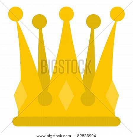 Kingly crown icon flat isolated on white background vector illustration