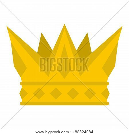 Cog crown icon flat isolated on white background vector illustration