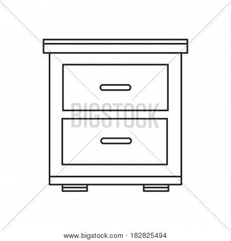 bedside table wooden outline vector illustration eps 10