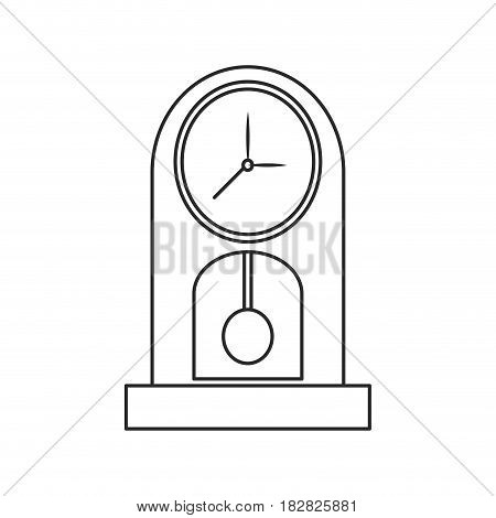 clock pendulum time classic outline vector illustration eps 10