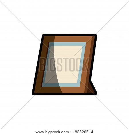 frame photo wooden shadow vector illustration eps 10