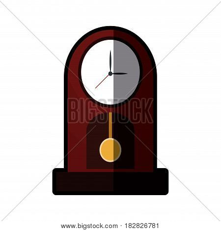 clock pendulum time classic shadow vector illustration eps 10