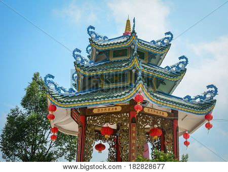 Chinese Pagoda In Mekong Delta, Vietnam