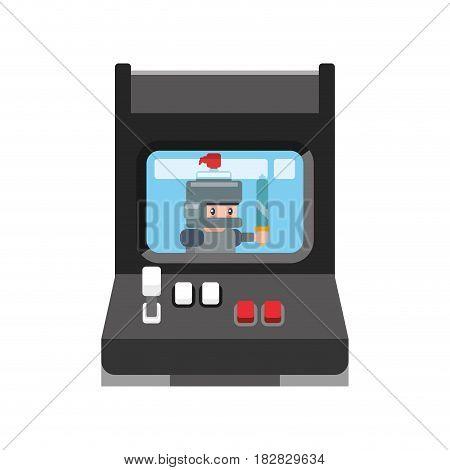 Videogame arcade machine vector illustration graphic icon design