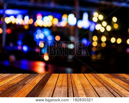 Image Of  Blurred Bokeh Background With Colorful Lights (blurred)