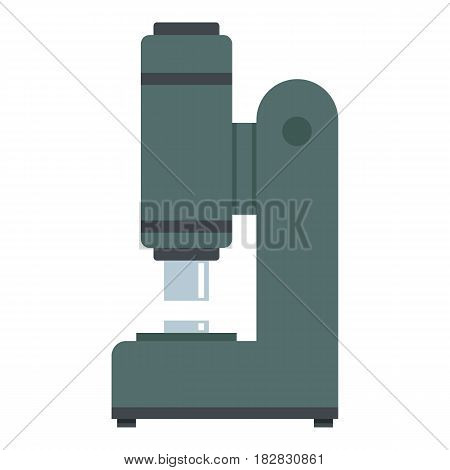 Blacksmith automatic hammer icon flat isolated on white background vector illustration