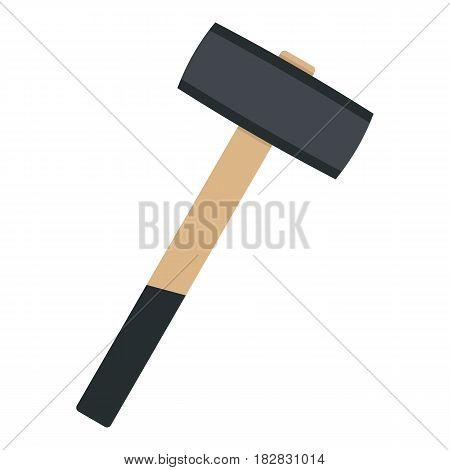Sledgehammer icon flat isolated on white background vector illustration