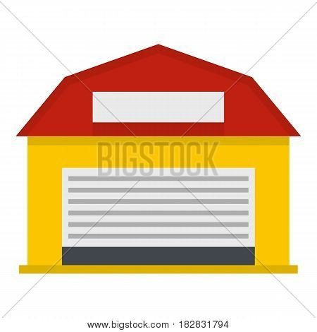 Hangar icon flat isolated on white background vector illustration