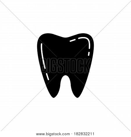 Tooth solid icon, Dental and medicine, vector graphics, a filled pattern on a white background, eps 10.