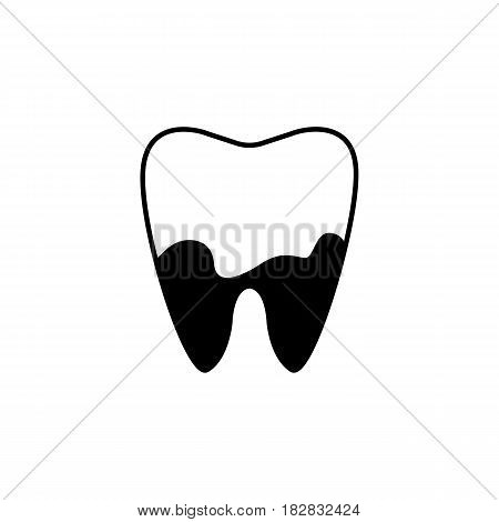 Denatal Plaque solid icon, Dental and medicine, tooth sign vector graphics, a filled pattern on a white background, eps 10.