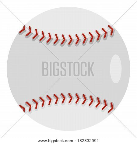 Ball for playing baseball icon flat isolated on white background vector illustration