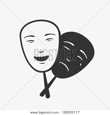 Theater Icon Mask Vector Illustration eps 8 file Format