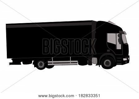Cargo Delivery Truck. Truck delivery move illustration isolated on a background.