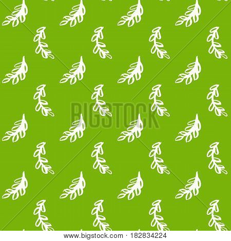 Natural Leaf Green Seamless Pattern. Vector Illustration of Spring Tileable Background.