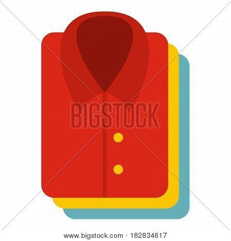 Stack of clothing icon flat isolated on white background vector illustration