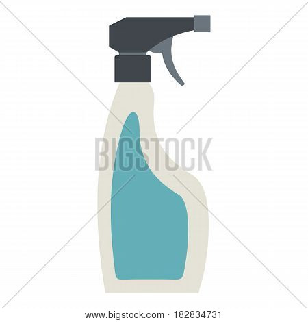 Blue sprayer bottle icon flat isolated on white background vector illustration