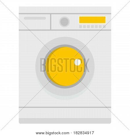 Washing machine icon flat isolated on white background vector illustration