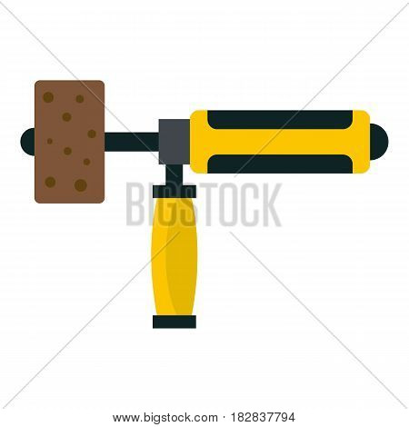 Precision grinding machine icon flat isolated on white background vector illustration