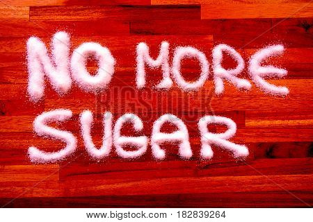 No more sugar sign with red color