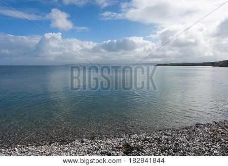 Clear blue sea at Moelfre Anglesey North Wales