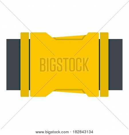 Yellow Side release buckle icon flat isolated on white background vector illustration