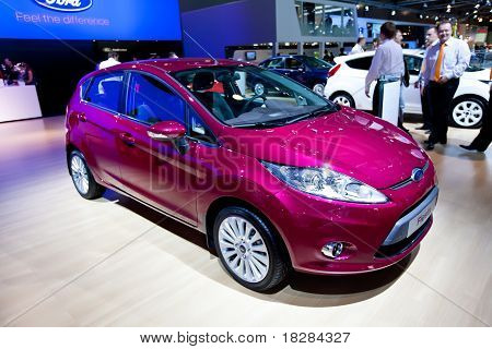 Moscow, Russia - August 25:  Red Car Ford Fiesta At Moscow International Exhibition Interauto On Aug