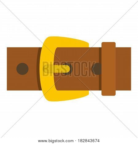 Gold buckle icon flat isolated on white background vector illustration
