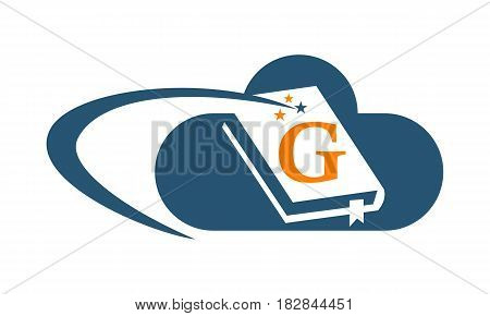 This vector describe about Cloud Ebook Solutions Initial G