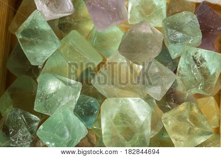 Fluorite crystals used for health wellbeing and industry