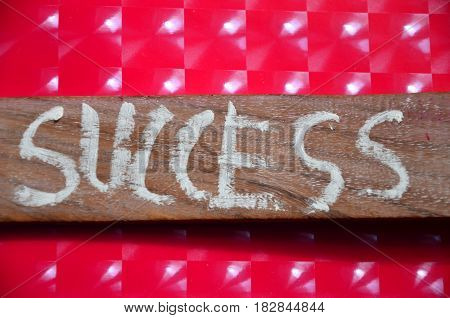 word success on a  abstract colorful background
