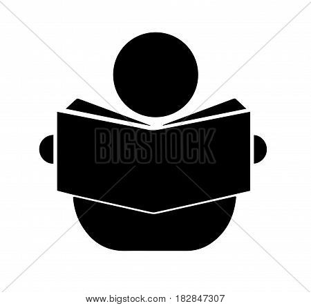 human figure reading a book - education concept