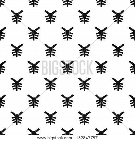 Human thorax pattern seamless in simple style vector illustration