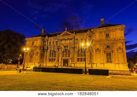Old library on Place de Verdun in Grenoble. Grenoble Auvergne-Rhone-Alpes France