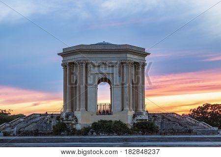 Pavillon du Peyrou in Montpellier. Montpellier Occitanie France.