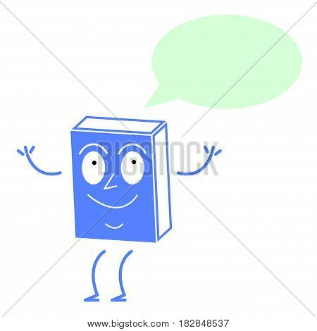 Cute book thinks, isolated on a white background