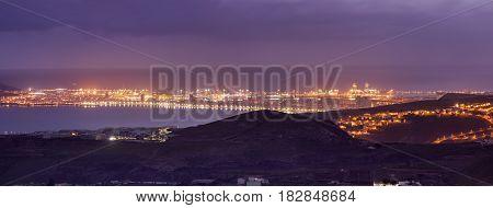 Las Palmas de Gran Canaria panorama. Arucas Gran Canaria Canary Islands Spain.