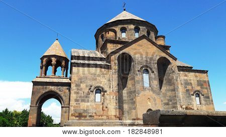 The ancient church of St. Hripsime in Etchmiadzin, Armenia