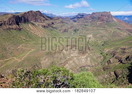 Gran Canaria - panorama of interior. Gran Canaria Canary Islands Spain.