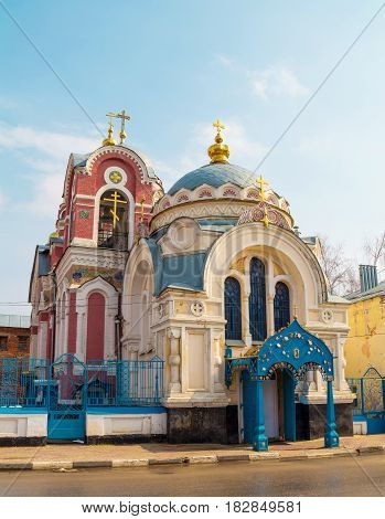 Grand-ducal Mihailovo-Aleksandrovskaya church in the ancient Russian town of Yelets
