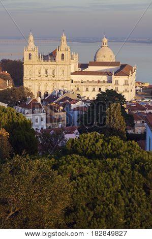 Sao Vicente de Fora Monastery in Lisbon. Lisbon Portugal.