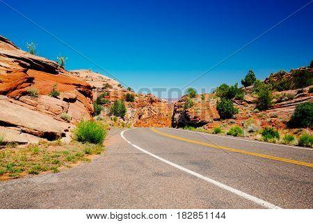 Viewpoint Near Kiva Koffeehouse, Scenic Byway 12, Escalante, Utah, Usa